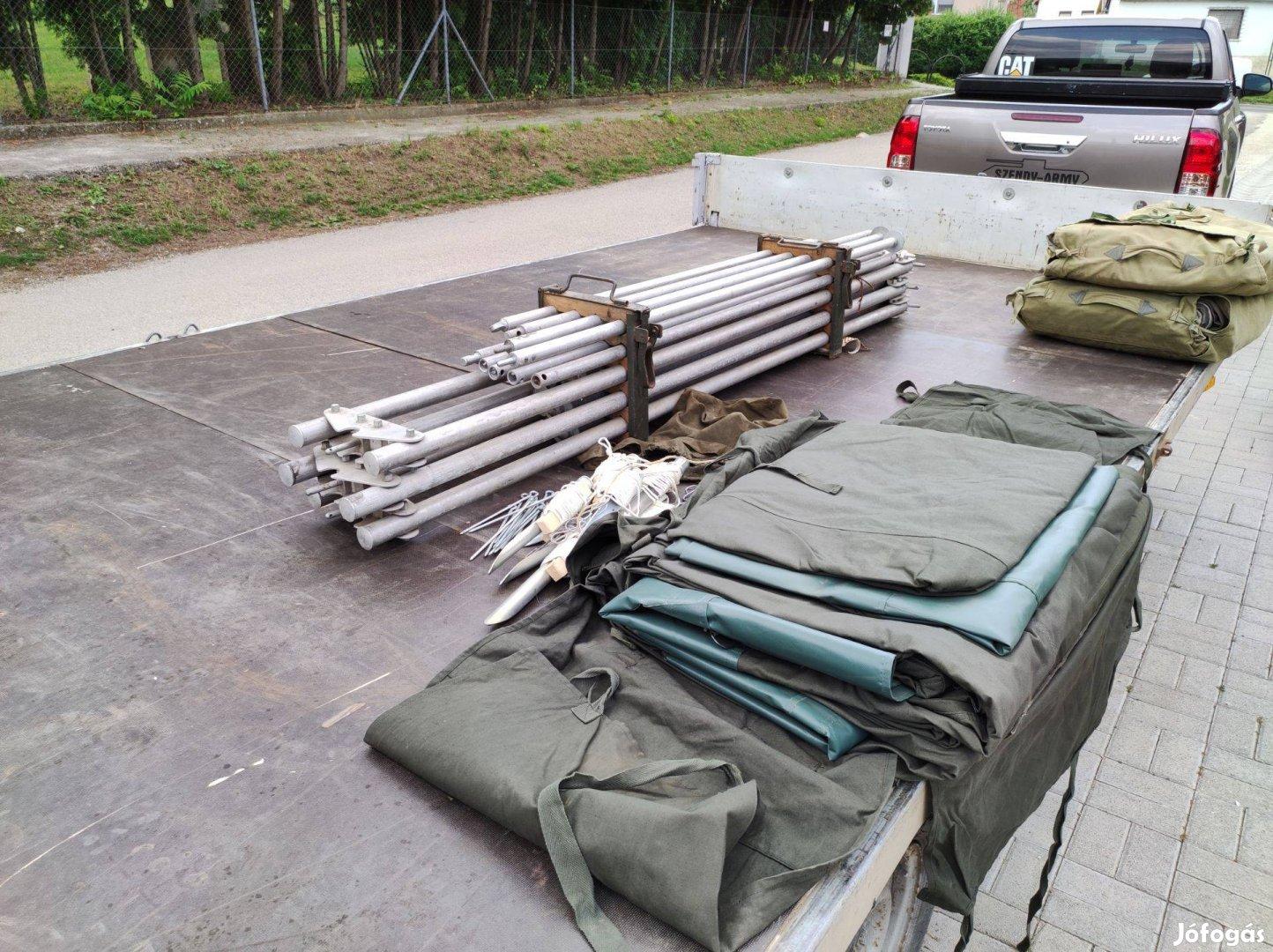 Katonai honvédségi sátor 63M eladó full új totál új raktári darab