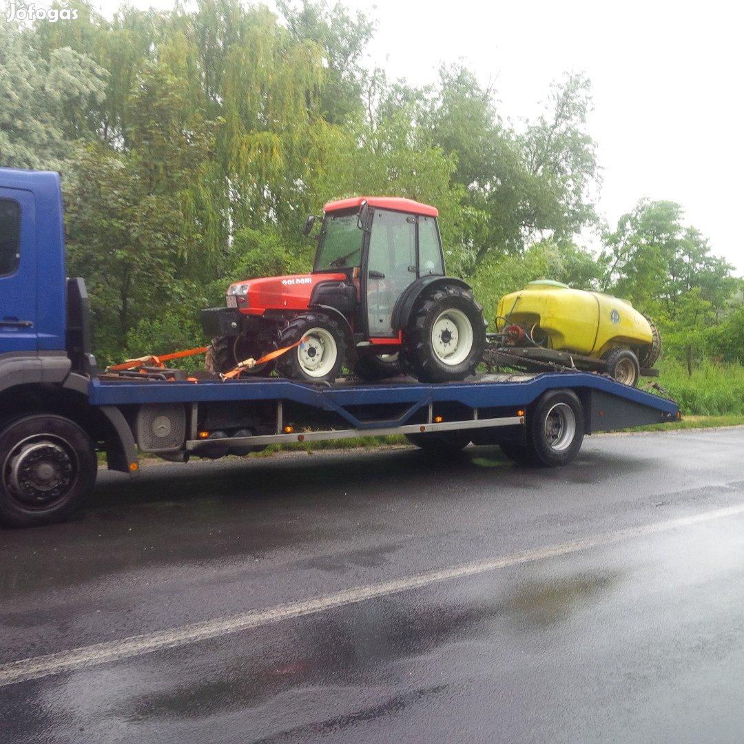Kecskemét! Markoló, Traktor, Pótkocsi, Gépszállítás! Túlméret!