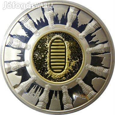 Keresztény Európa 2000 éve Ag 999 ezüst - arany érem, luxus emlékérem
