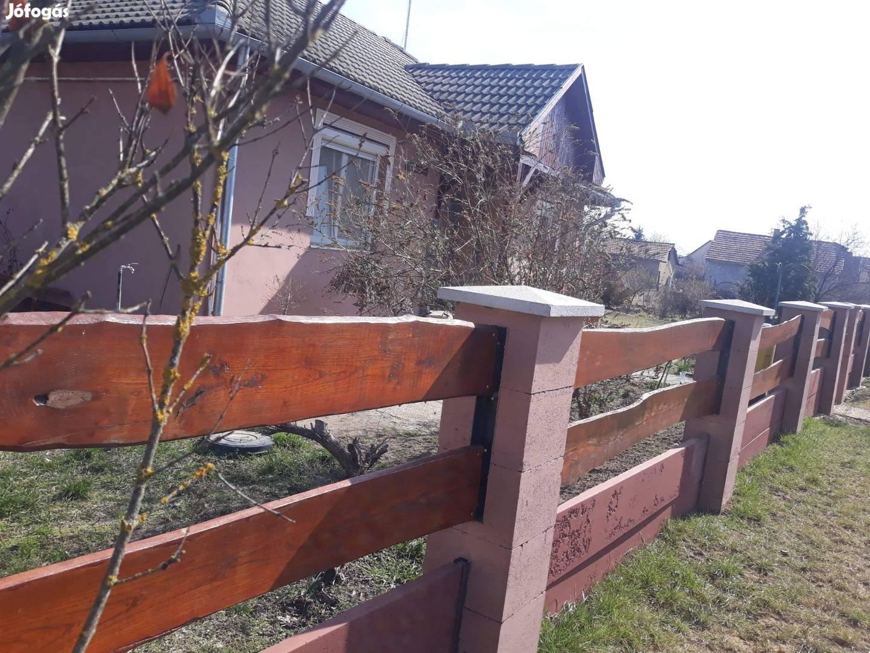 Kerítés fedlap, oszlop fedkő, új Akció