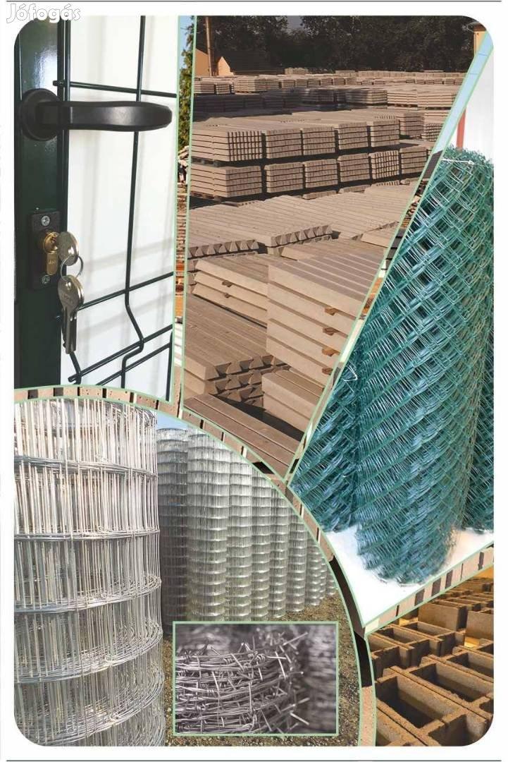 Kerítés háló, vadvédelmi háló, táblás elem, kis kapu vadháló drótfonat