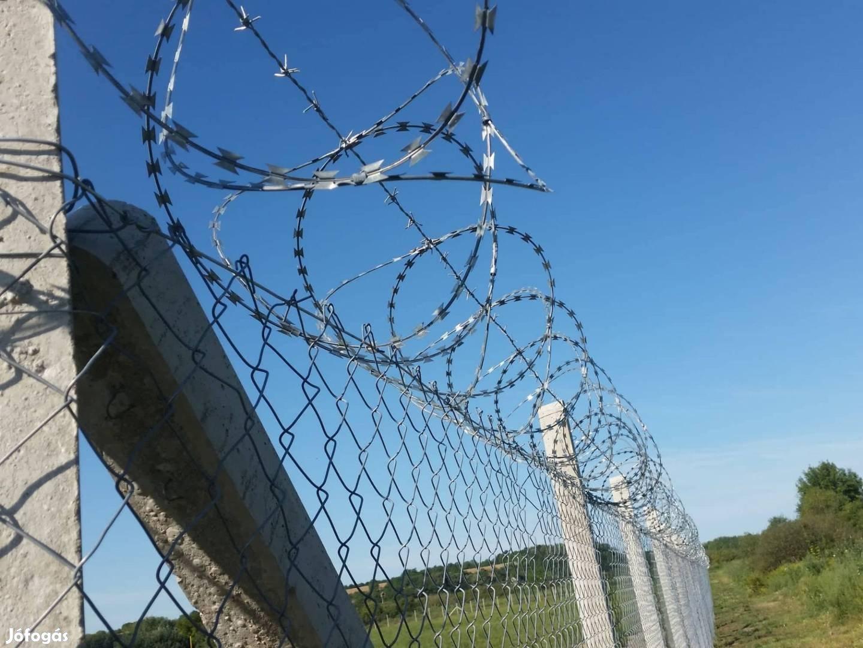 Kerítésépítés, nagykapu, vadháló drótháló drótkerítés kerítés építés