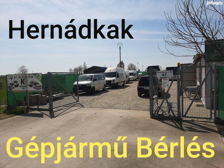 Kisteherautó és kisbusz bérlés Miskolcon és Hernádkakon 12000ft/naptól