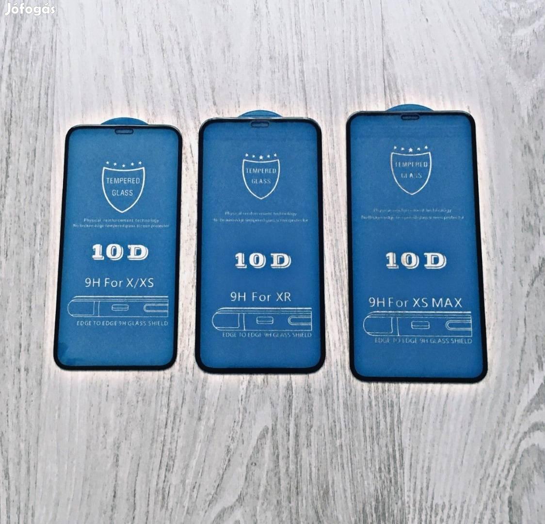 Kiváló minőségű üvegfólia 10D iphone 5 6 7 8 Plusz X Xs XR XS Max
