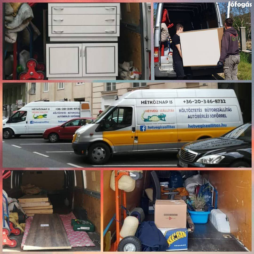 Költöztetés, bútorszállítás - hétköznap és hétvégén is fix áron!