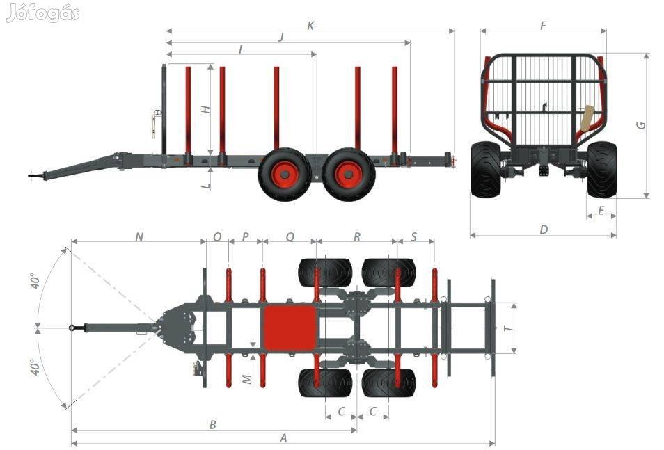 Krpan erdészeti közelítő kocsik nagy választékban eladók