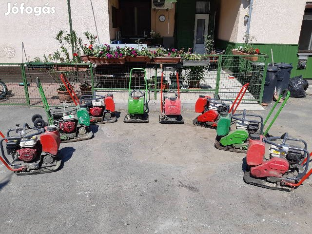 Lapvibrátor talajtömörí Mikasa Wacker Bomag Ammann ipari döngölő honda