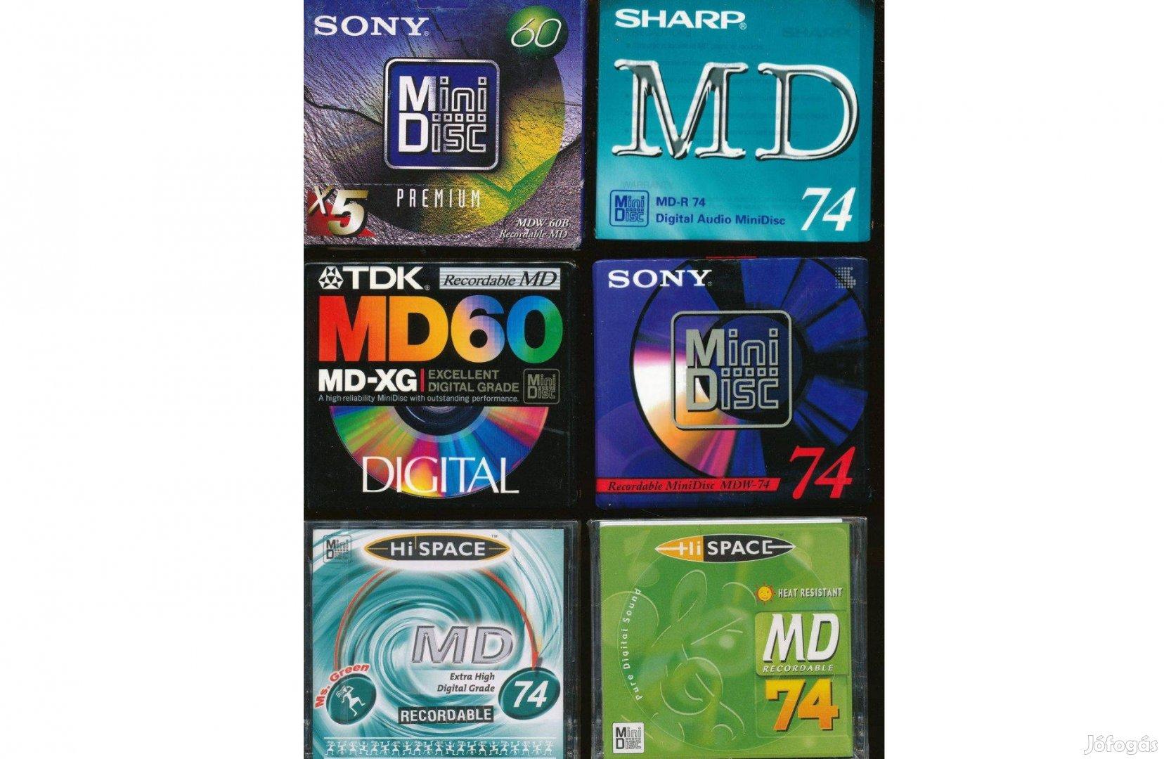 MD Minidisc Mini Disc lemezek új gyári csomagolásban
