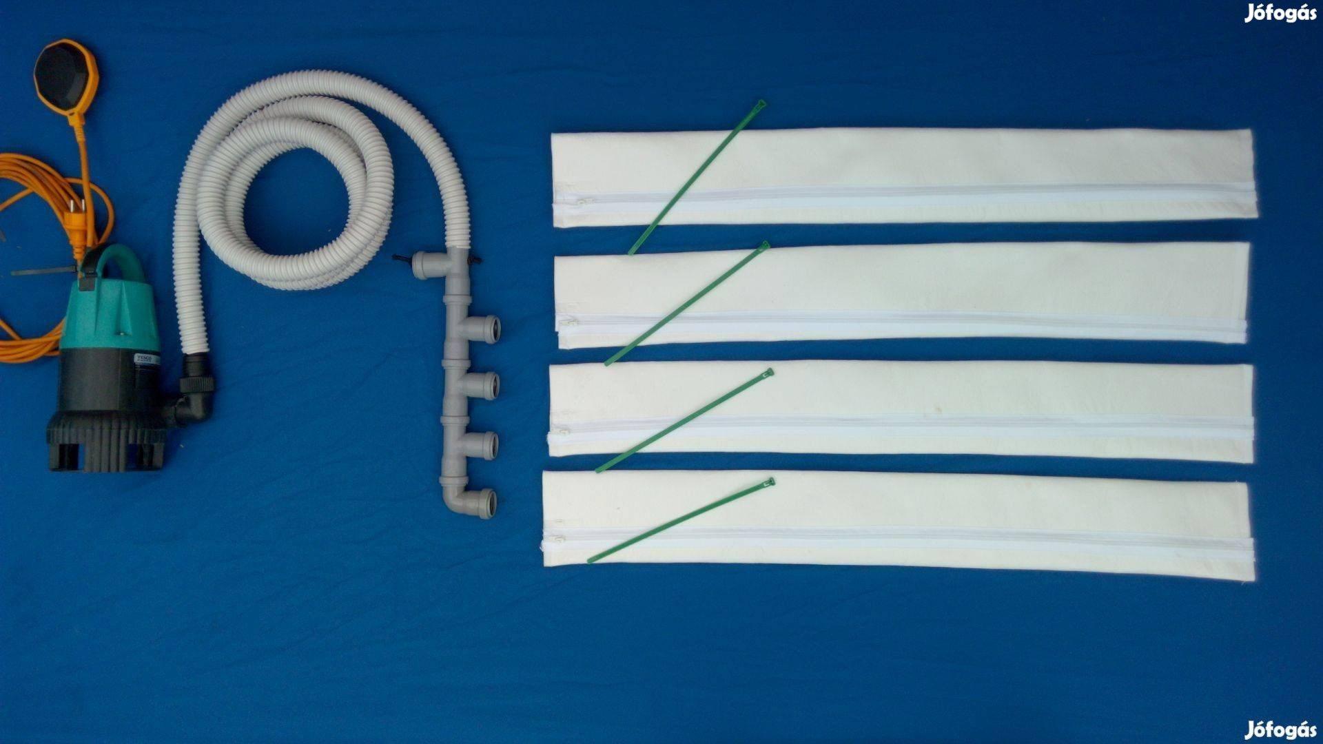 Medencevízszűrő Csodazsák Homokszűrő helyett is, 1 mikronos