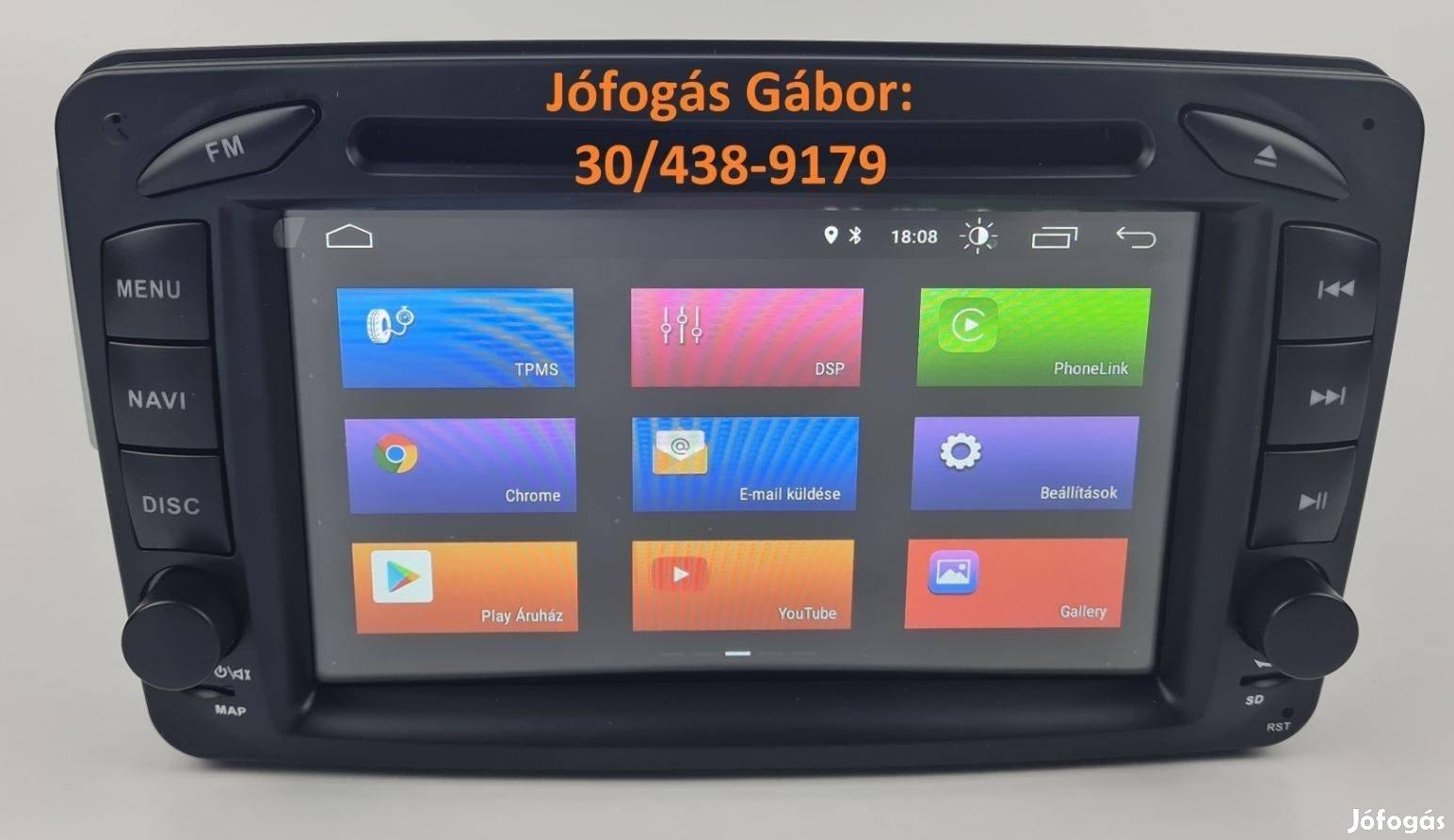 Mercedes Android autórádió fejegység gyári helyre +Carplay