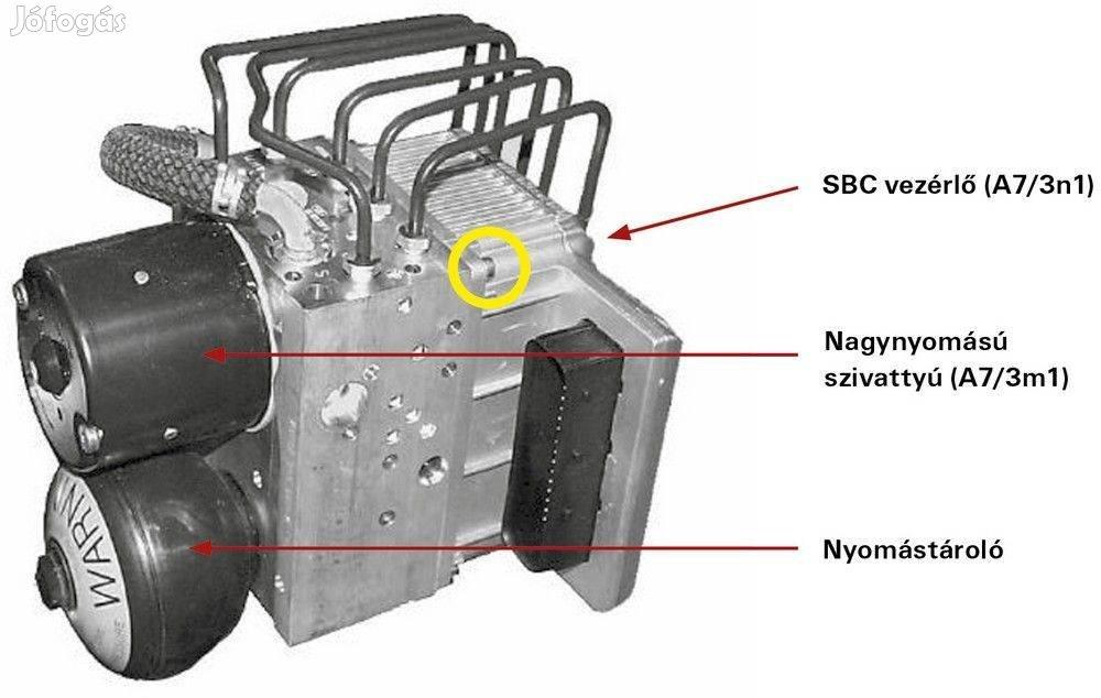 Mercedes SBC Fékszámláló nullázása, felújítása programozása