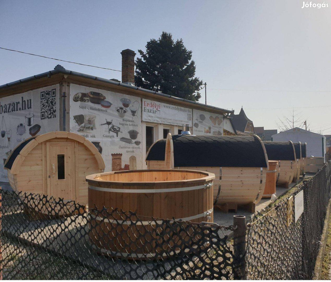 Minőségi észak európai borovifenyő finn szauna, hordó szauna kályhával