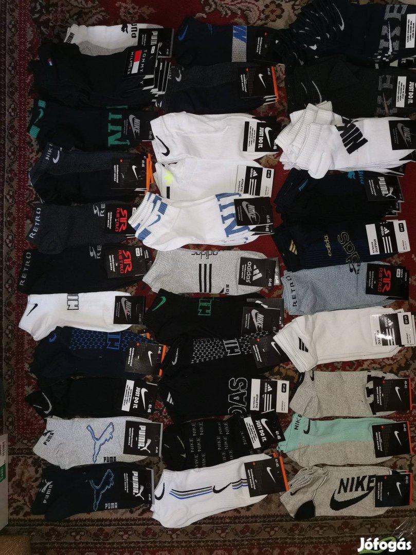 Nike, Adidas, Puma zokni