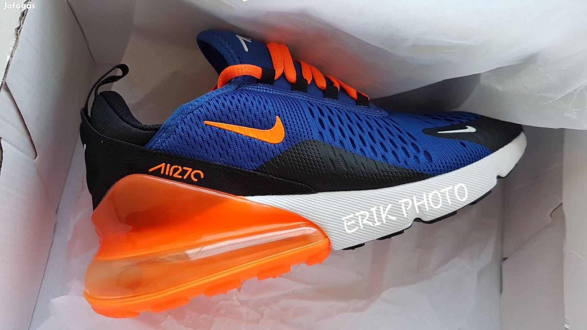 cb8224ab4b Nike air max 270 blue-orange eredeti férfi cipő - VII. kerület, Budapest