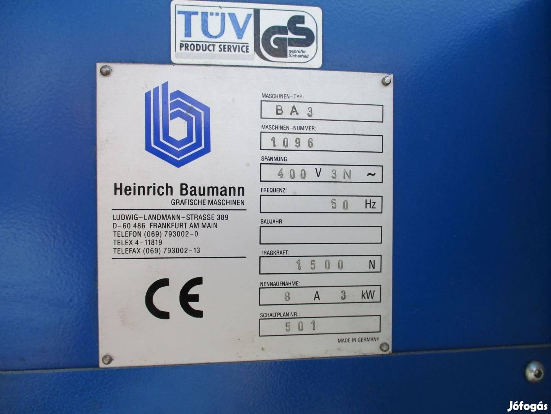 Nyomdaipari gép Ívköteg lerakó Baumann BA 3 ( 710)