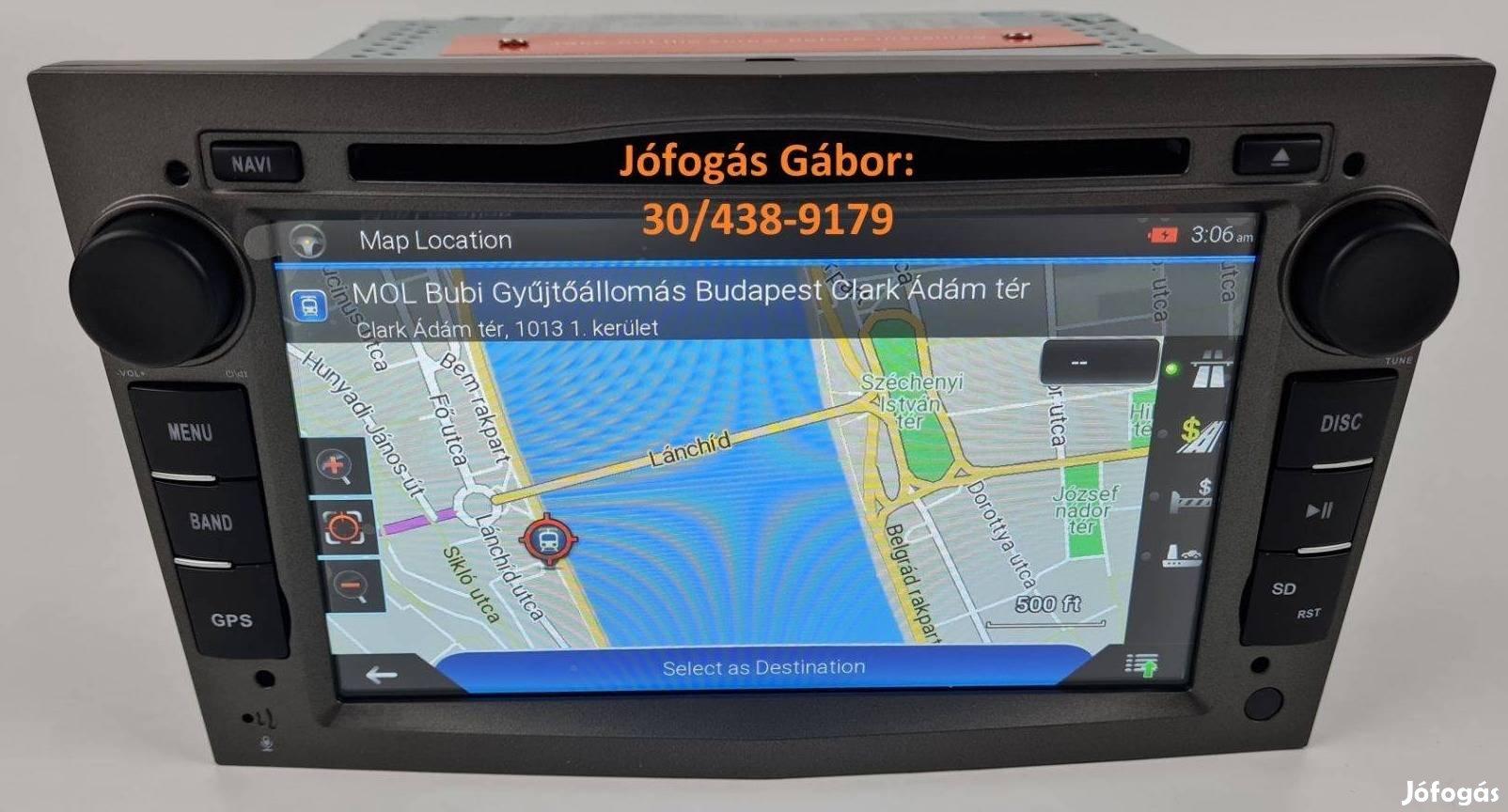 Opel Android autórádió fejegység gyári helyre 3színben + Carplay