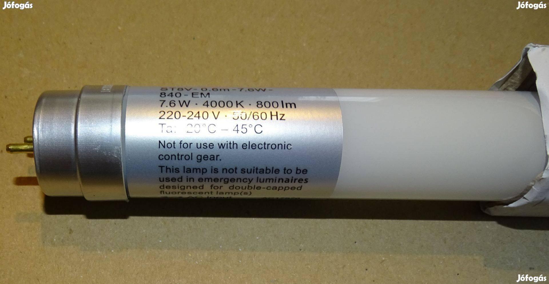 Osram ledes fénycső új ST8V-0.6m-7.6W-840-EM eladó!