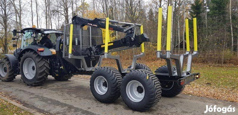 Palms 15D erdészeti pótkocsi 7.86-os daruval eladó