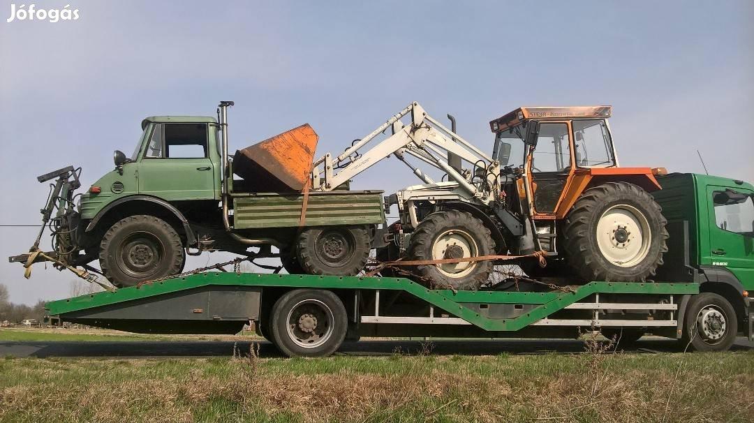 Permetező, Pótkocsi, Gép, Traktor, Bálázó, Markoló, Gépszállítás, 2. Kép