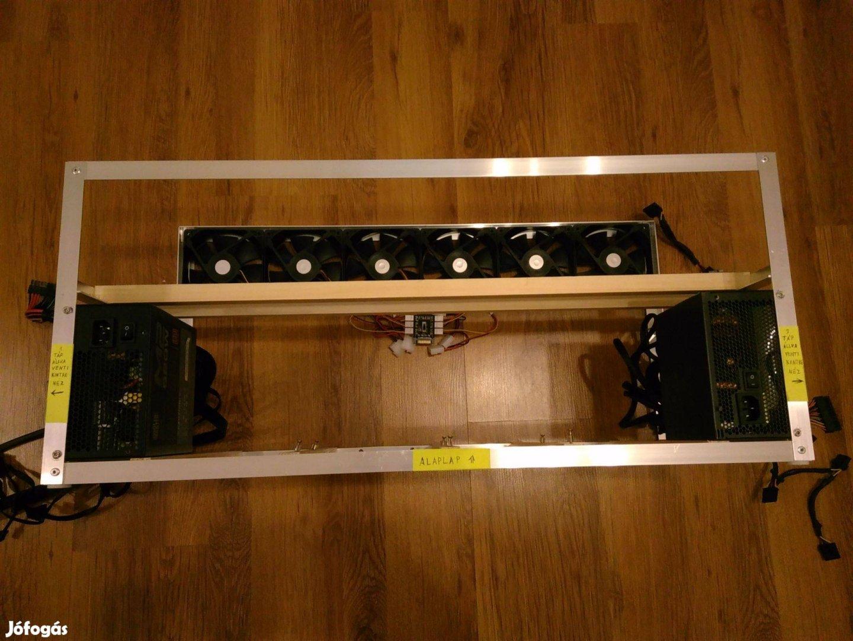 RIG, bányász gép keret, Fullos! - két méretben 6-8 VGA-nak