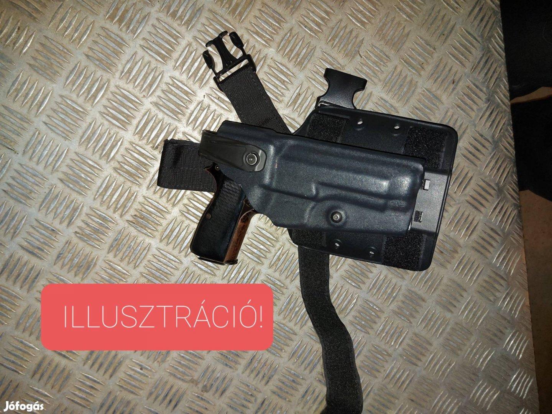 Radar P9 fegyvertok, pisztolytok, combtok