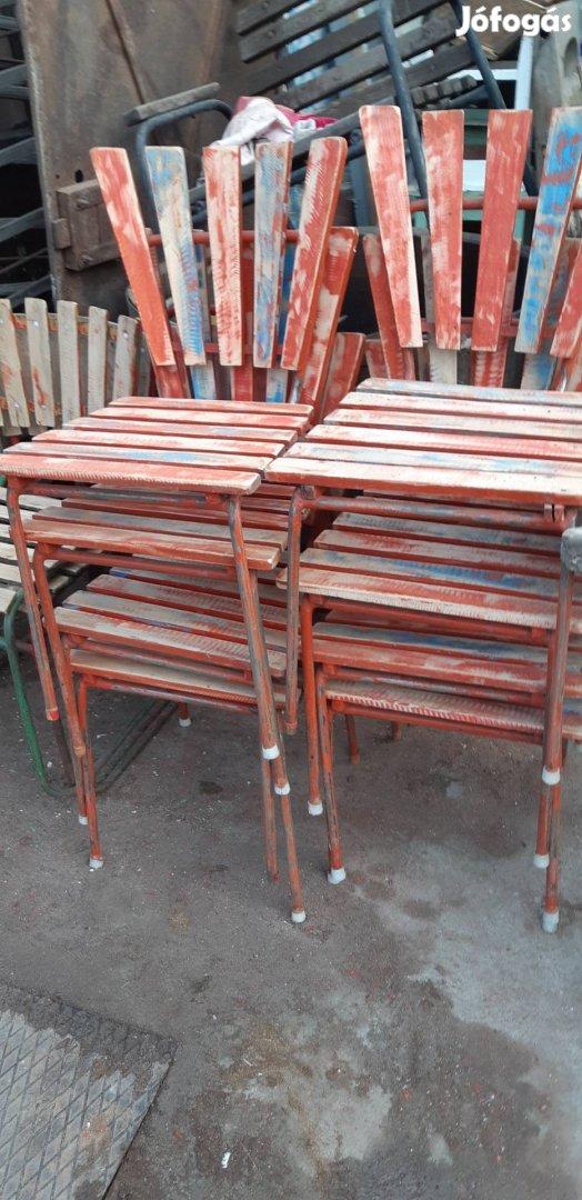 Régi strand székek retro kerti székek loft székek régi kertiszék , 1. Kép