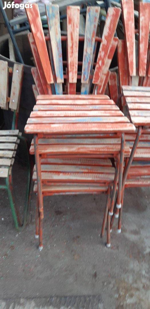 Régi strand székek retro kerti székek loft székek régi kertiszék , 2. Kép