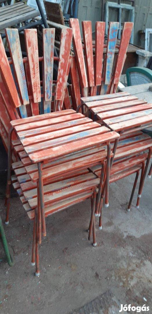 Régi strand székek retro kerti székek loft székek régi kertiszék , 3. Kép