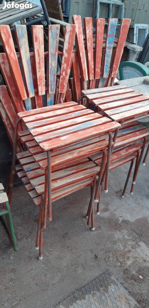 Régi strand székek retro kerti székek loft székek régi kertiszék , 4. Kép