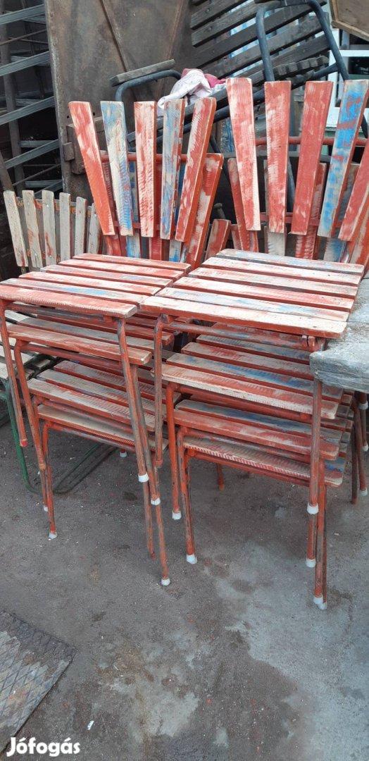 Régi strand székek retro kerti székek loft székek régi kertiszék , 5. Kép