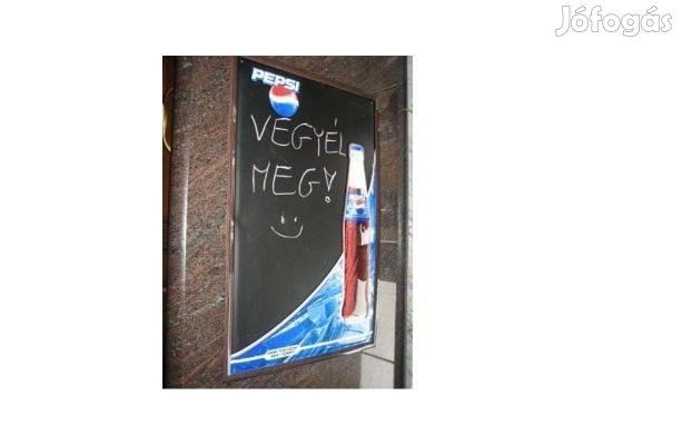 Retro/vintage PEPSI írható, zománcozott tábla + ajándék Pepsi pohár!