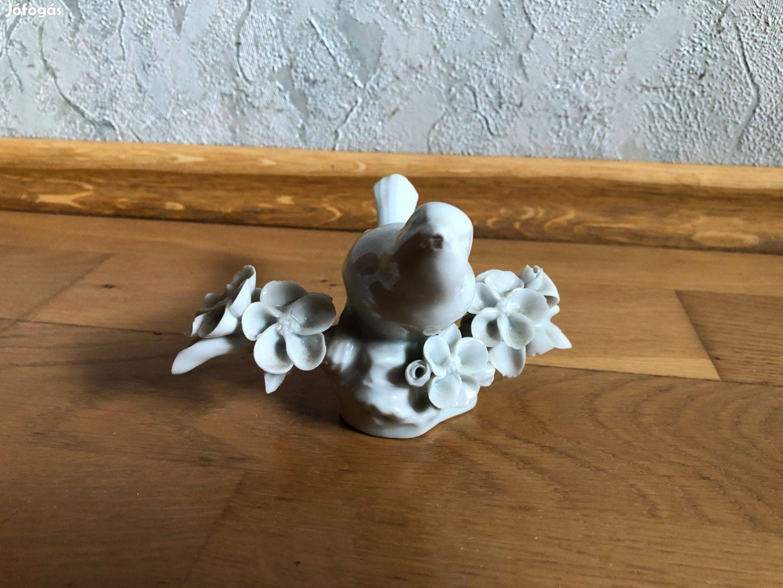 Ritkább fehér porcelán madaras dísztárgy