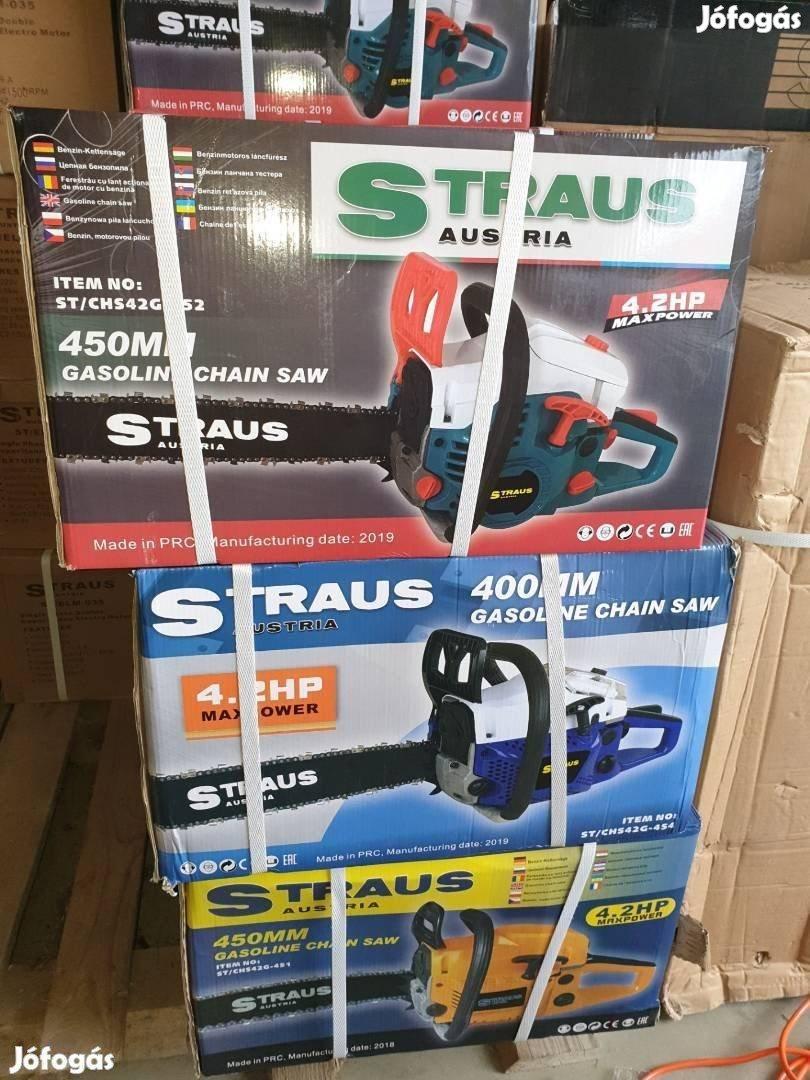 Straus Austria 4.2Le benzines láncfűrész 52ccm!!lánc fűrész Új!