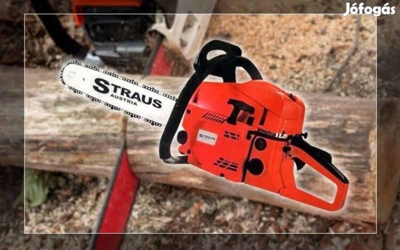 Straus Austria benzines láncfűrész fűrészgép,3,8LE,52ccm Új!fürész