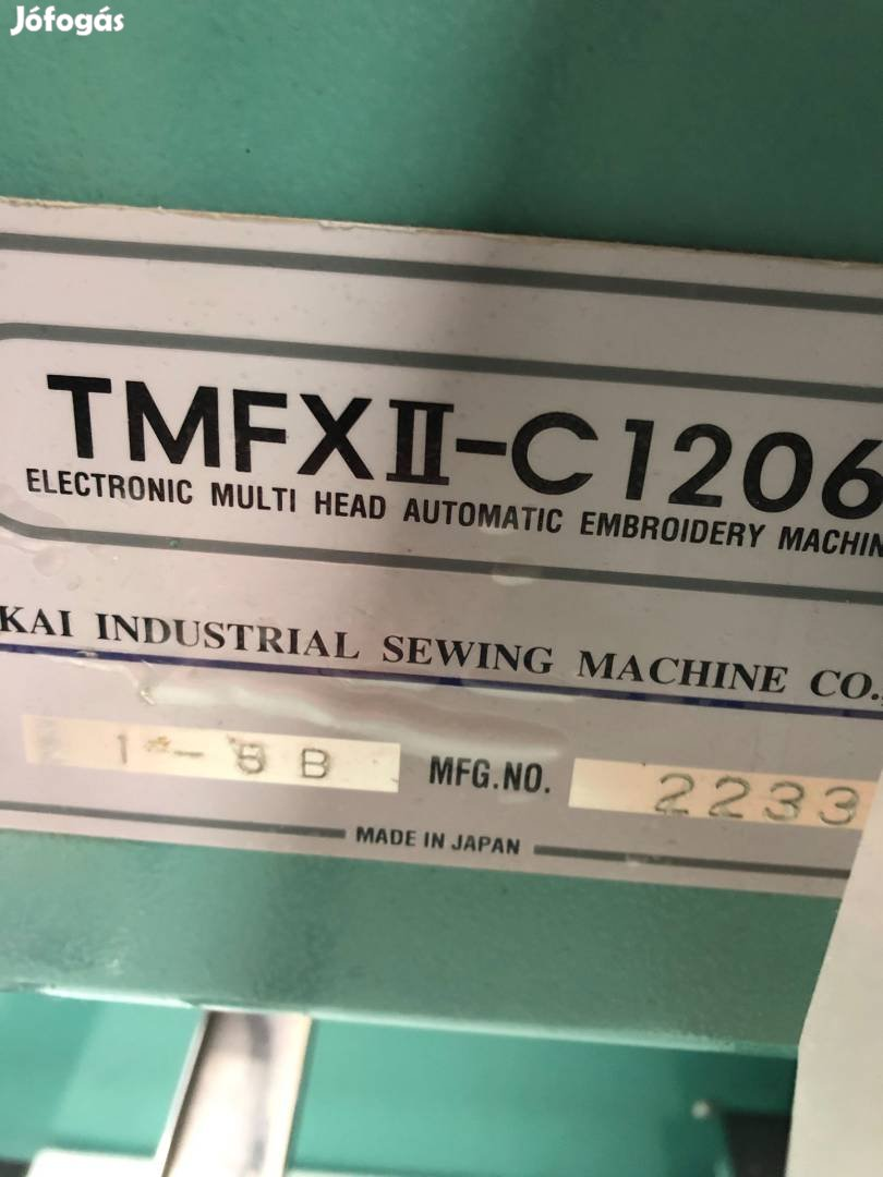 Tajima hímzőgép, 4. Kép