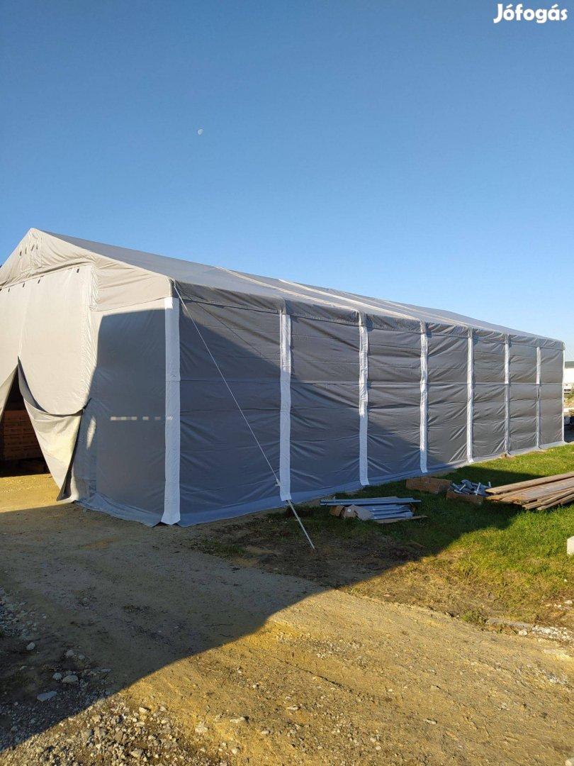 Téli-nyári raktár, raktársátor, sátorgarázs, garázs, tároló sátor 4x6m
