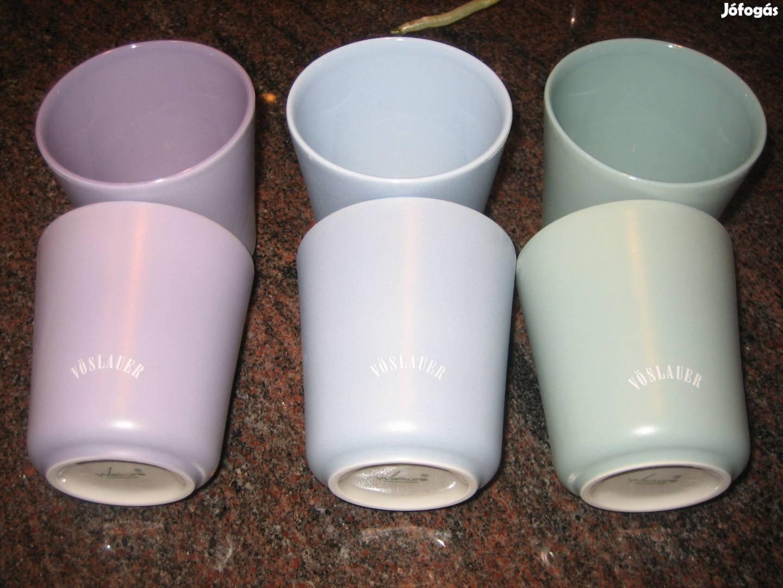 Telj. új eredeti Vöslauer Polka design Walküre porcelán pohár szett!
