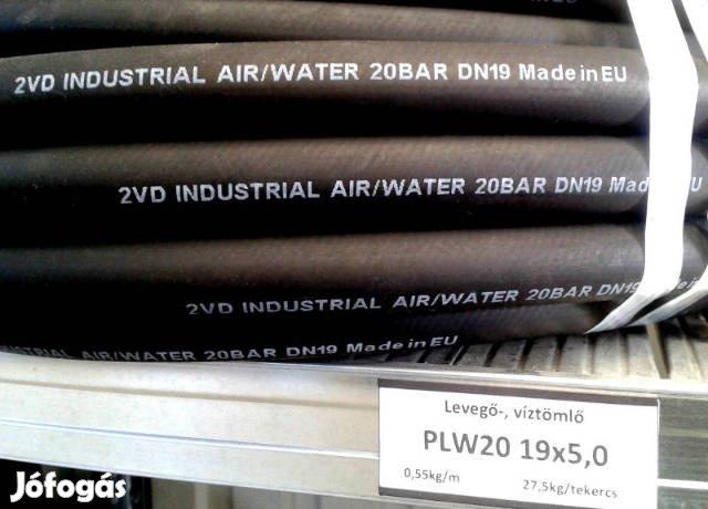 Tömlő; Ipari gumitömlő; Víz-Levegő tömlő; Locsoló cső; Slag; 20BAR