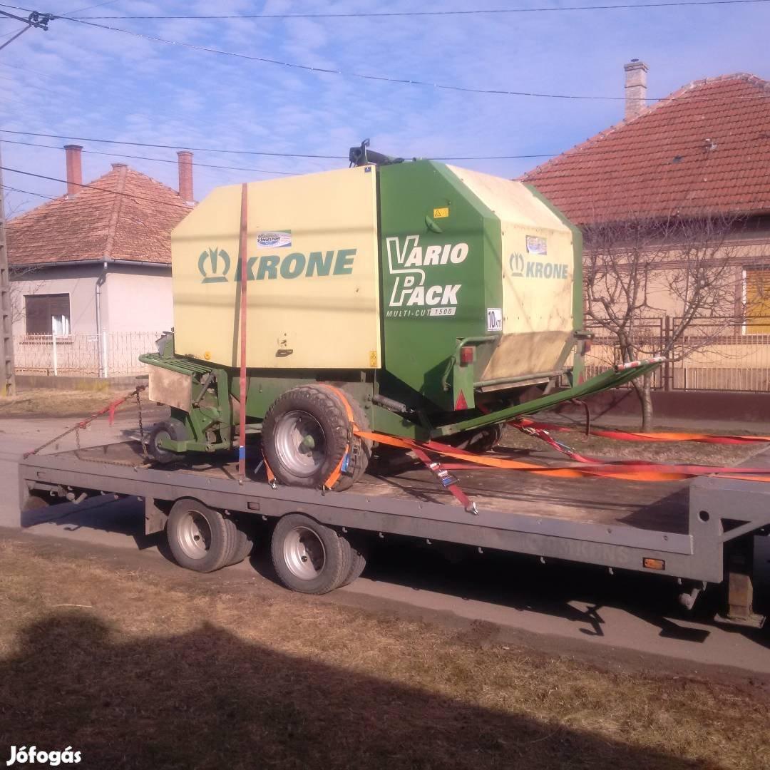 Traktor, Permetező, Bálázó, Pótkocsi,Targonca, kombájn, Gépszállítás, 7. Kép