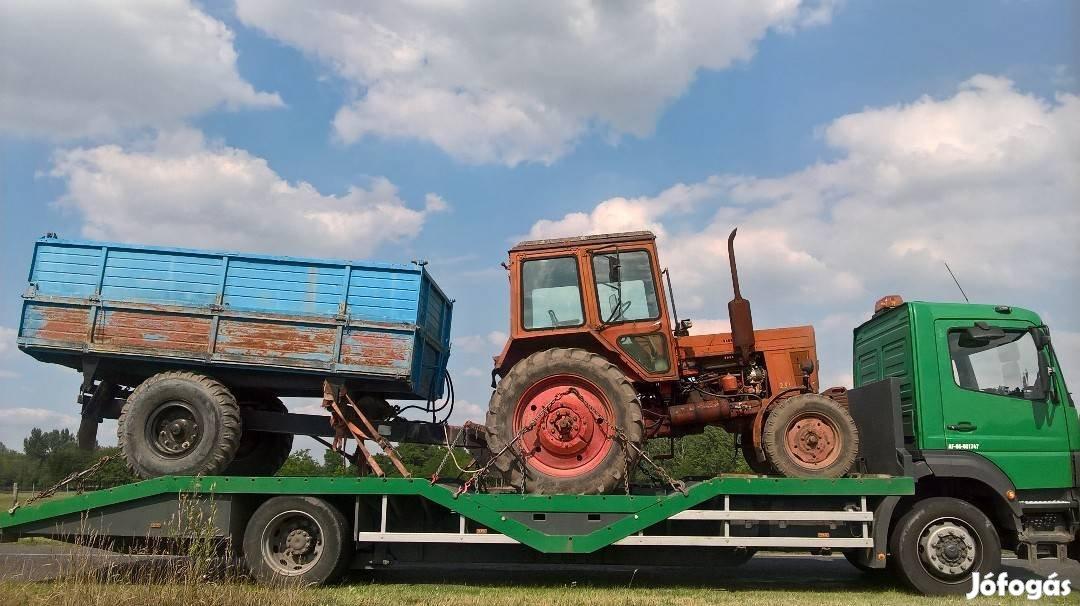 Traktor, Permetező, Öntöződob, Targonca, Gépszállítás, 4. Kép