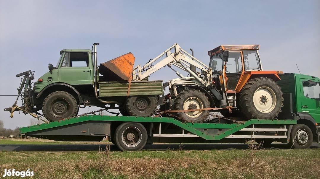Traktor, Permetező, Öntöződob, Targonca, Gépszállítás, 5. Kép