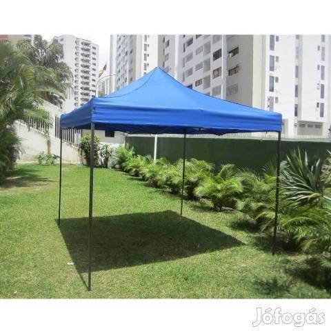 Új 3X3m horgász piaci árusító kerti pavilon sátor acélszerkezetes, 1. Kép