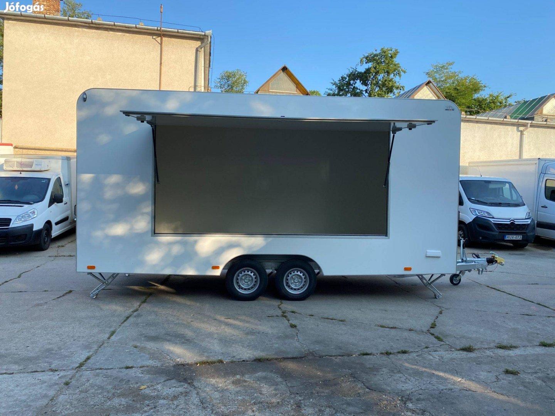 Új Büfékocsi Utánfutó Food Truck XXL