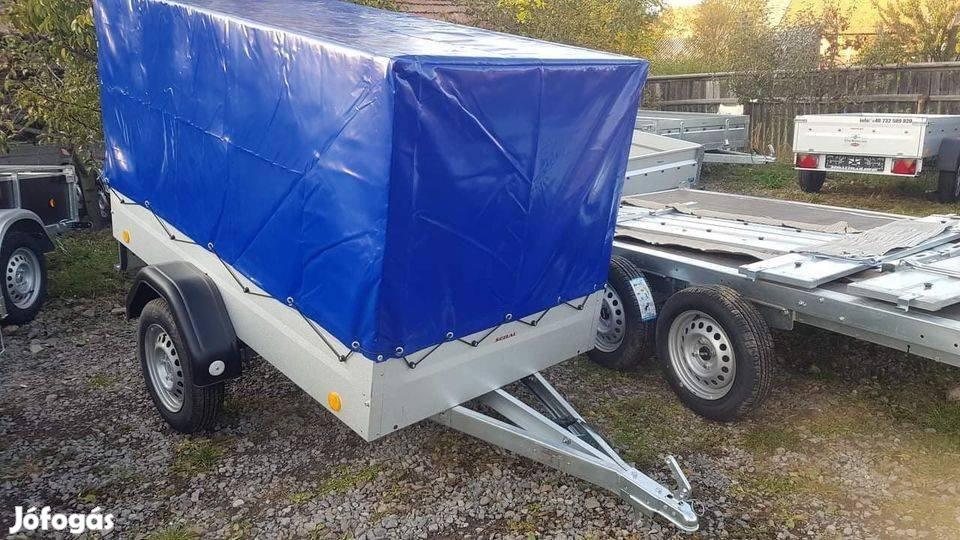 Új EU 2412/75 ponyvás utánfutó (243x123 cm) eladó bruttó 418.000,-Ft