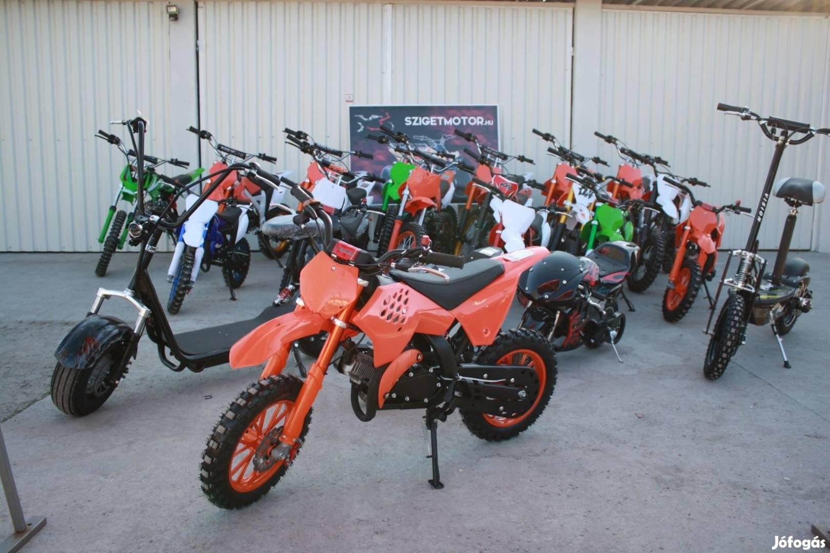 Új Kxd 701 gyermek gyerek pocket cross krossz motor a Sziget Motornál!