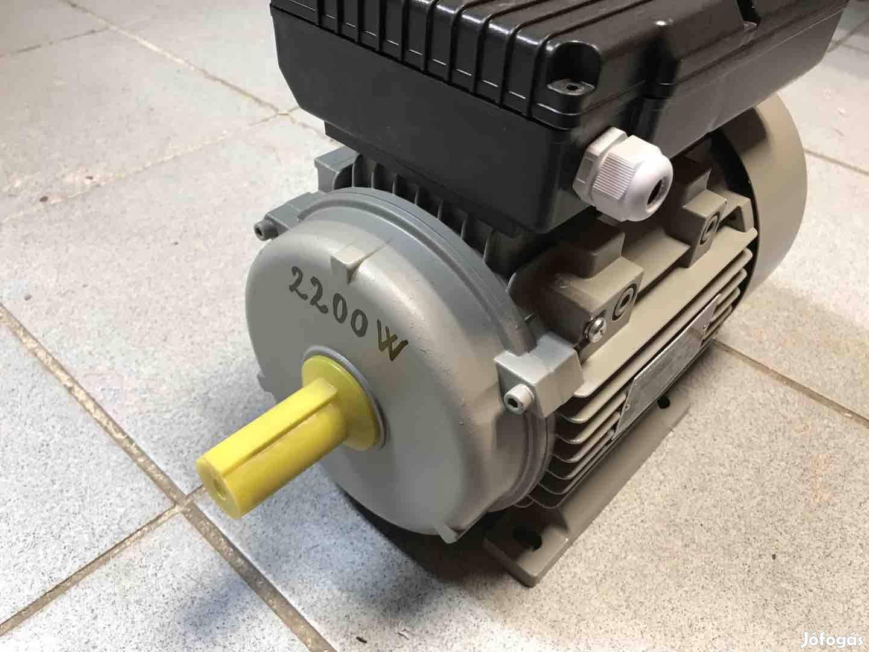 Új Német 2200W Villanymotor 2,2 kW Egyfázisú Motor 230V 2900/perc