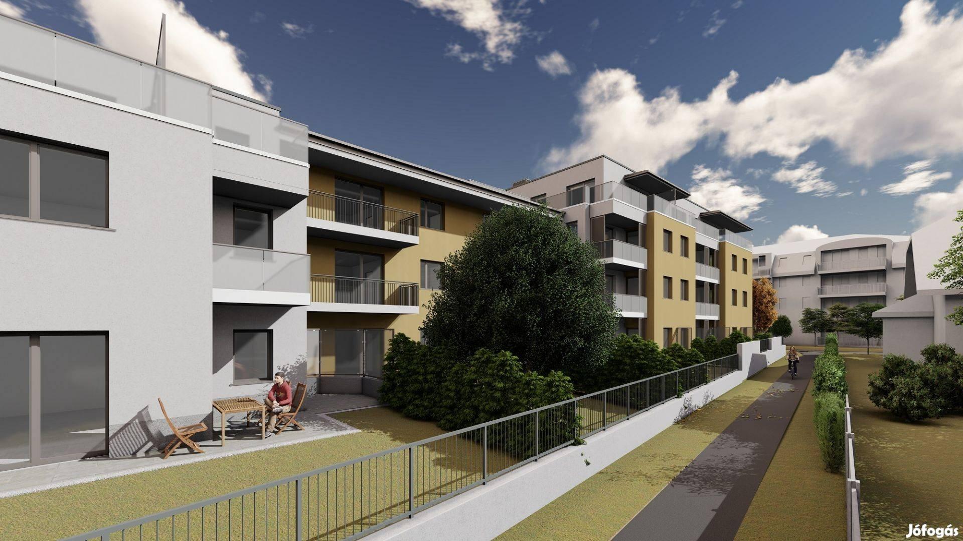 Új építésű erkélyes, két frontos lakás eladó kulcsrakészen!