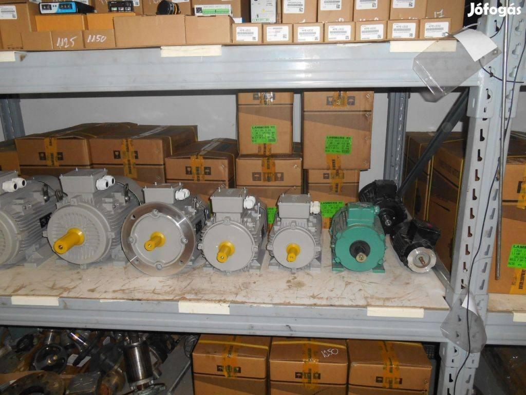 Új és használt 3 fázisú villanymotorok nagy választékban
