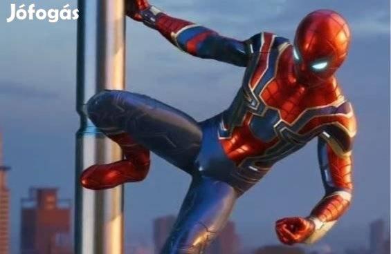 Új feszülős Iron Pókember farsangi jelmez több méret Iron Spiderman