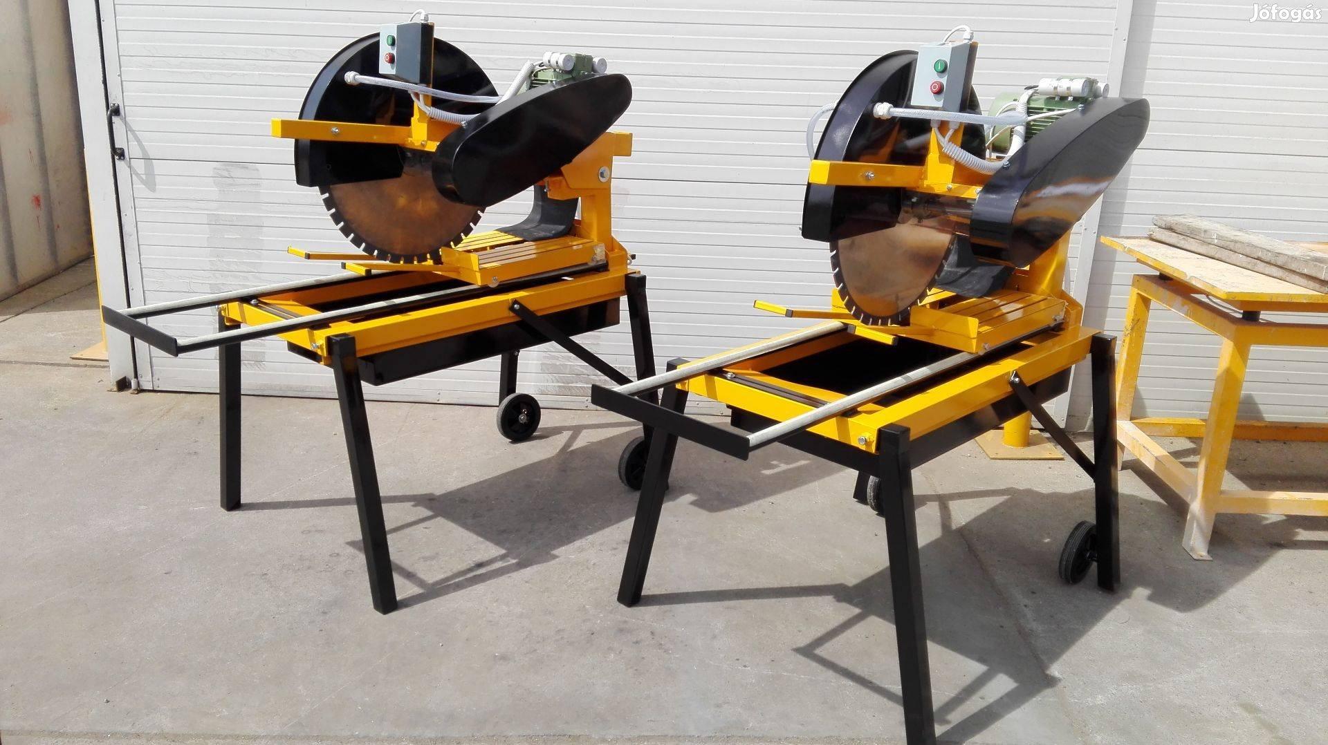 Universal 400-700 vizes téglavágó gép,block vágó gép, 650 mm-es tárcsa